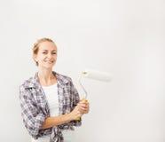 Woman doing repairs Stock Images