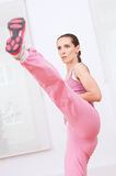 Woman doing self defence exercise Stock Photos