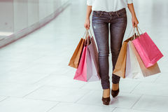 Woman doing shopping Royalty Free Stock Photography