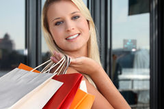 Woman doing shopping Royalty Free Stock Photo