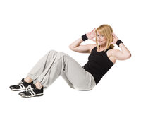 Woman doing sit ups Stock Images