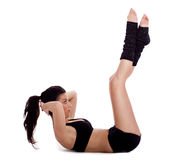 Woman doing situp exercise Royalty Free Stock Photo