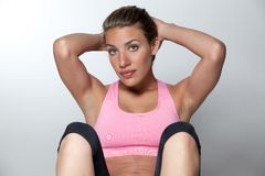 Woman Doing Situps Stock Images