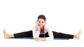 Woman doing the splits Royalty Free Stock Photos