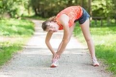 Woman Doing Sport Activities Stock Image