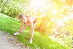 Woman Doing Sport Activities Stock Images