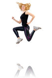 Woman doing sports Stock Images