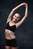 Woman doing sports exercises Stock Photography
