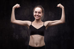 Woman doing sports exercises Royalty Free Stock Photography
