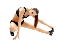 Woman doing streching Royalty Free Stock Photos