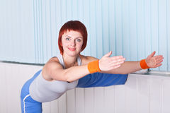 Woman doing stretching Stock Image
