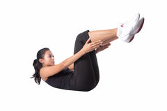 Woman doing stretching exercise Royalty Free Stock Photography