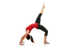 Woman doing stretching exercise Royalty Free Stock Images