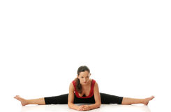 Woman doing stretching exercise Stock Image