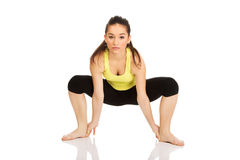 Woman doing stretching exercise. Stock Photography