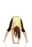 Woman doing stretching exercise. Royalty Free Stock Image