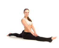 Woman doing stretching exercise Stock Images