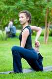 Woman doing stretching exercise. Yoga Royalty Free Stock Images