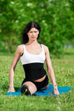 Woman doing stretching exercise. Yoga Royalty Free Stock Photo