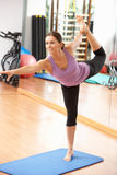 Woman Doing Stretching Exercises Royalty Free Stock Photo