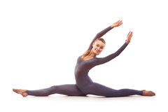 Woman doing stretching exercises Royalty Free Stock Photography