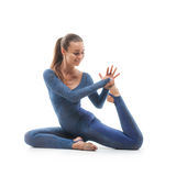 Woman doing stretching exercises Royalty Free Stock Images