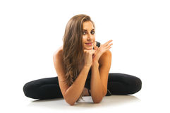 Woman doing stretching exercises Royalty Free Stock Image