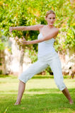 Woman Doing Tai Chi Stock Image