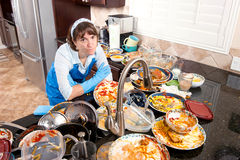 Free Woman Doing The Dishes Stock Photography - 17473892