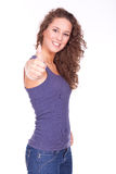 Woman doing thumb up Stock Photos