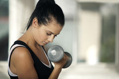 Woman doing weight training Royalty Free Stock Photography