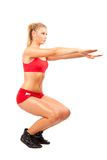 Woman doing workout Stock Photography