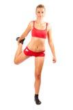 Woman doing workout Stock Photos