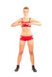 Woman doing workout Royalty Free Stock Photos