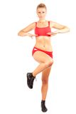 Woman doing workout Royalty Free Stock Image