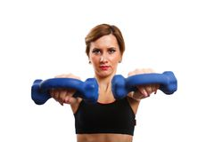 Woman doing workout Stock Image
