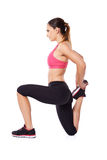 Woman doing a workout Stock Images