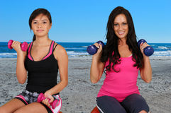 Woman Doing Workout Royalty Free Stock Photography