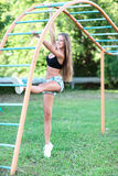 Woman doing  workout Stock Image