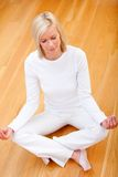 Woman doing yoga Royalty Free Stock Photo