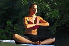 Woman doing yoga Royalty Free Stock Photo