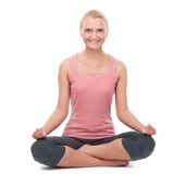 Woman doing yoga Stock Images
