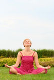 Woman doing yoga Royalty Free Stock Image