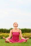 Woman doing yoga Royalty Free Stock Image