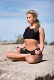 Woman doing yoga Royalty Free Stock Photography