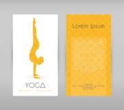 Woman doing yoga asanas, flyers Stock Photo