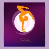 Woman doing yoga asanas Royalty Free Stock Photo