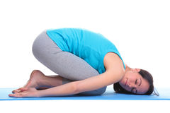 Woman doing yoga balasana - Childs pose Royalty Free Stock Photos