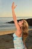 Evening Yoga Royalty Free Stock Image