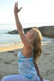Evening Yoga Royalty Free Stock Photography